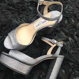 Jimmy Choo Peachy 105mm sandals - metallic